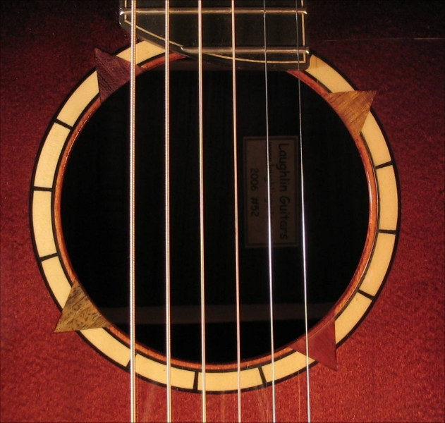 Large Sunburst Guitar rosette