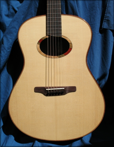 Large White Spruce Mahogany Guitar
